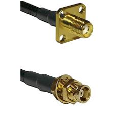 SMA 4 Hole Female on RG58C/U to MCX Female Bulkhead Cable Assembly