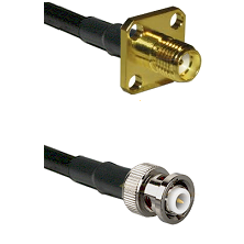 SMA 4 Hole Female on RG58C/U to MHV Male Cable Assembly