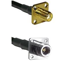SMA 4 Hole Female on RG58C/U to N 4 Hole Female Cable Assembly