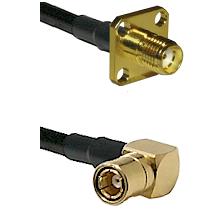 SMA 4 Hole Female on RG58C/U to SMB Right Angle Female Cable Assembly