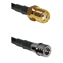 SMA Female on LMR100 to QMA Male Cable Assembly
