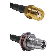 SMA Female on LMR100/U to QN Female Bulkhead Cable Assembly