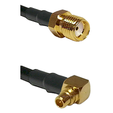 SMA Female on LMR100 to MMCX Right Angle Male Cable Assembly
