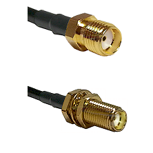 SMA Female On LMR400UF To SMA Female Bulk Head Connectors Ultra Flex Coaxial Cable