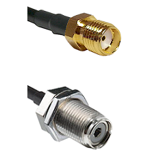 SMA Female On LMR400UF To UHF Female Bulk Head Connectors Ultra Flex Coaxial Cable