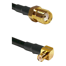 SMA Female on RG188 to MCX Right Angle Male Cable Assembly