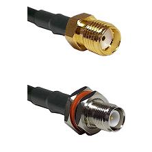 SMA Female on RG223 to TNC Reverse Polarity Female Bulkhead Cable Assembly