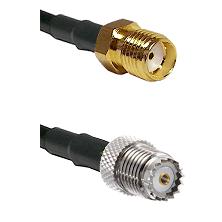 SMA Female on RG400 to Mini-UHF Female Cable Assembly