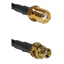 SMA Female on RG58C/U to MCX Female Bulkhead Cable Assembly
