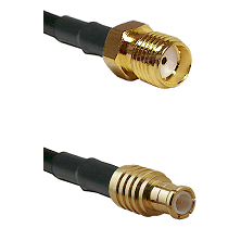 SMA Female on RG58C/U to MCX Male Cable Assembly