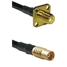 SMA 4 Hole Female on LMR100 to MCX Female Cable Assembly