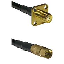 SMA 4 Hole Female on LMR100 to MMCX Female Cable Assembly