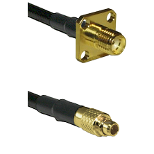 SMA 4 Hole Female on LMR100 to MMCX Male Cable Assembly