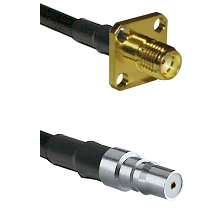 SMA 4 Hole Female on LMR100 to QMA Female Cable Assembly