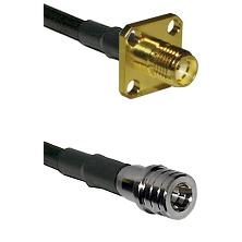 SMA 4 Hole Female on LMR100 to QMA Male Cable Assembly