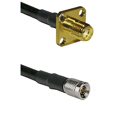 SMA 4 Hole Female on LMR-195-UF UltraFlex to 10/23 Male Cable Assembly