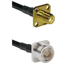 SMA 4 Hole Female on LMR-195-UF UltraFlex to 7/16 4 Hole Female Cable Assembly