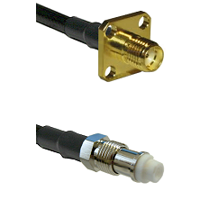 SMA 4 Hole Female on LMR-195-UF UltraFlex to FME Female Cable Assembly
