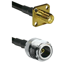 SMA 4 Hole Female on LMR-195-UF UltraFlex to N Female Cable Assembly