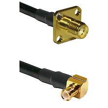SMA 4 Hole Female on LMR-195-UF UltraFlex to MCX Right Angle Male Cable Assembly