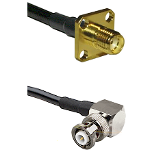 SMA 4 Hole Female on LMR-195-UF UltraFlex to MHV Right Angle Male Cable Assembly