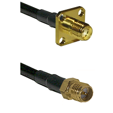 SMA 4 Hole Female on LMR-195-UF UltraFlex to SMA Reverse Polarity Female Cable Assembly