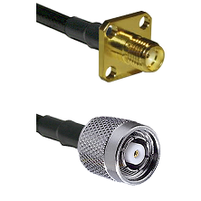 SMA 4 Hole Female on LMR-195-UF UltraFlex to TNC Reverse Polarity Male Cable Assembly