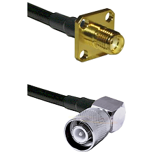 SMA 4 Hole Female on LMR-195-UF UltraFlex to SC Right Angle Male Cable Assembly