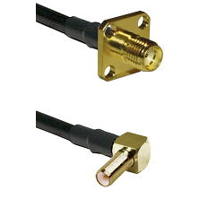SMA 4 Hole Female on LMR-195-UF UltraFlex to SLB Right Angle Male Cable Assembly