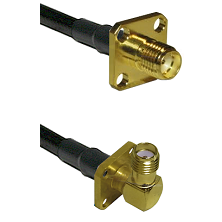 SMA 4 Hole Female on LMR-195-UF UltraFlex to SMA 4 Hole Right Angle Female Cable Assembly