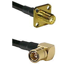 SMA 4 Hole Female on LMR-195-UF UltraFlex to SMB Right Angle Female Cable Assembly