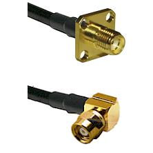 SMA 4 Hole Female on LMR-195-UF UltraFlex to SMC Right Angle Female Cable Assembly