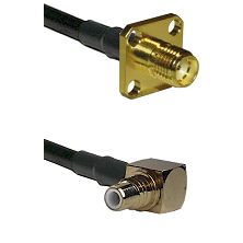 SMA 4 Hole Female on LMR-195-UF UltraFlex to SMC Right Angle Male Cable Assembly