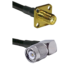 SMA 4 Hole Female on LMR-195-UF UltraFlex to TNC Right Angle Male Cable Assembly
