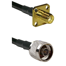 SMA 4 Hole Female on LMR-195-UF UltraFlex to N Reverse Thread Male Cable Assembly