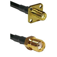 SMA 4 Hole Female on LMR-195-UF UltraFlex to SMA Reverse Thread Female Cable Assembly