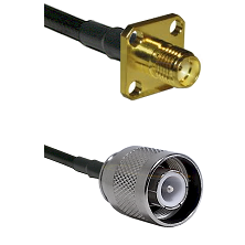 SMA 4 Hole Female on LMR-195-UF UltraFlex to SC Male Cable Assembly