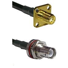 SMA 4 Hole Female on LMR-195-UF UltraFlex to SHV Bulkhead Jack Cable Assembly