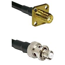 SMA 4 Hole Female on LMR-195-UF UltraFlex to SHV Plug Cable Assembly