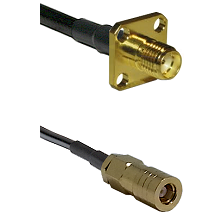 SMA 4 Hole Female on LMR-195-UF UltraFlex to SLB Female Cable Assembly