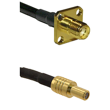 SMA 4 Hole Female on LMR-195-UF UltraFlex to SLB Male Cable Assembly