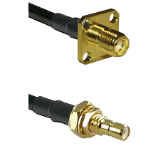 SMA 4 Hole Female on LMR-195-UF UltraFlex to SMB Male Bulkhead Cable Assembly