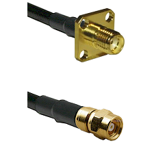 SMA 4 Hole Female on LMR-195-UF UltraFlex to SMC Female Cable Assembly