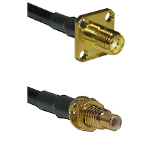 SMA 4 Hole Female on LMR-195-UF UltraFlex to SMC Male Bulkhead Cable Assembly
