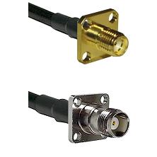 SMA 4 Hole Female on LMR-195-UF UltraFlex to TNC 4 Hole Female Cable Assembly