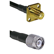 SMA 4 Hole Female on LMR-195-UF UltraFlex to TNC Male Cable Assembly