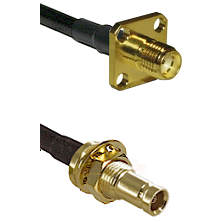 SMA 4 Hole Female on LMR200 UltraFlex to 10/23 Female Bulkhead Cable Assembly