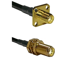 SMA 4 Hole Female on RG188 to SMA Female Bulkhead Cable Assembly
