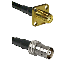 SMA 4 Hole Female on RG400 to C Female Cable Assembly
