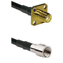 SMA 4 Hole Female on RG400 to FME Male Cable Assembly